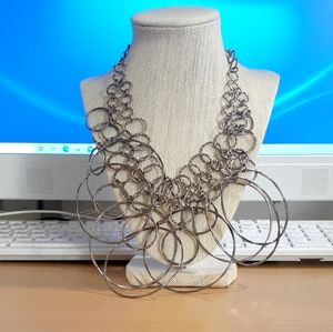 Looped spiral necklace